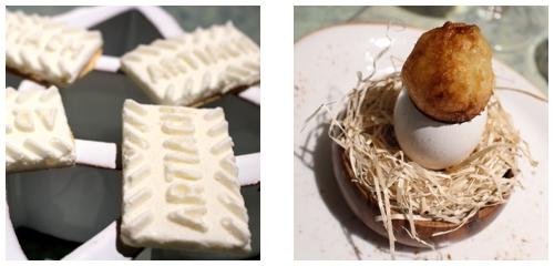 Galleta de parmesano  &  Yema crujiente