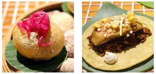 Infladita de cochinita  &  Taco de pato