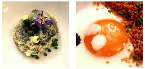 Calamar en su tinta  &  Huevo con patata