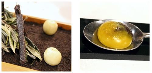 Aceituna helada  &  Huevo trufado
