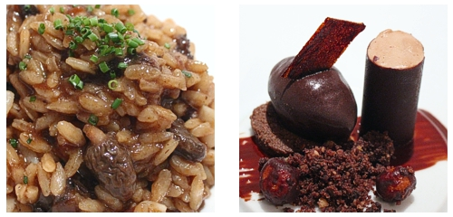 Arroz de colmenillas y tripa  &  Chocolate