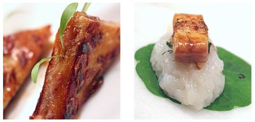 Bikini de pies de cerdo  &  Nigiri de anguila