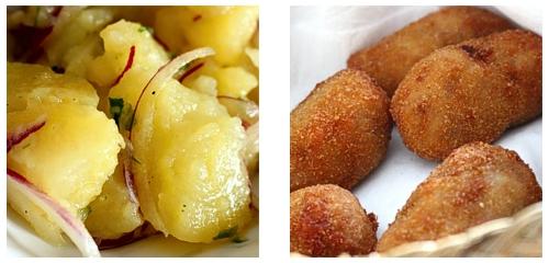 Patatas aliñadas  &  Croquetas