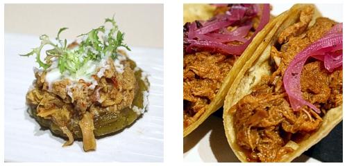 Sopes de tinga  &  Taco de cochinita pibil