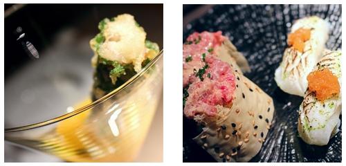 Cóctel de anguila  &  Nigiri y Gunkan