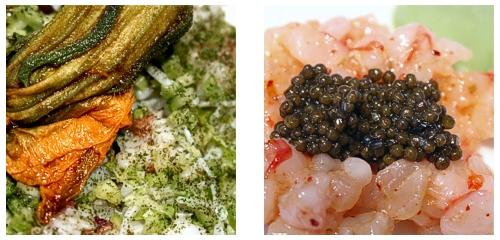 Coca de buey de mar  &  Tartar de cigalas y gamba