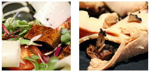 Ensalada de anguila  &  Foie