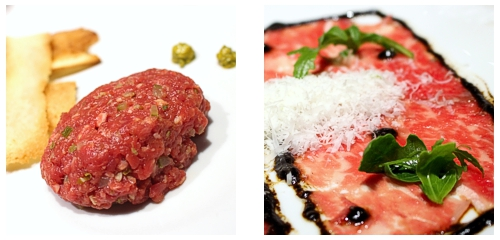 Steak tartar  &  Carpaccio de wagyu