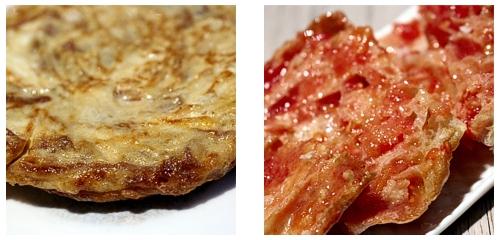 Tortilla  &  Pan con tomate