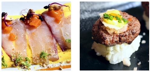 Tiradito  &  Minihamburguesa